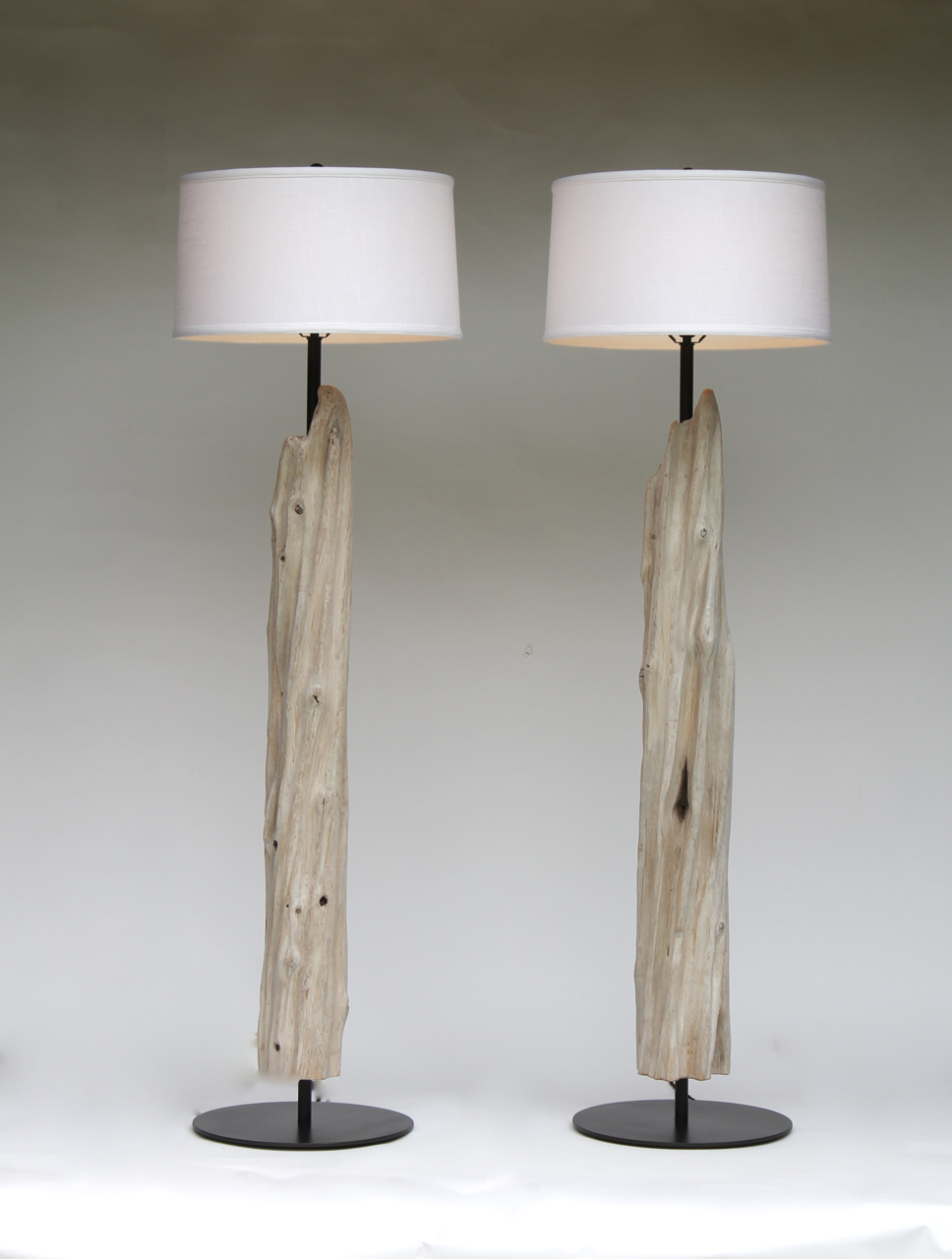 Pair Of Fluted Floor Lamps